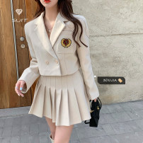 Fashion suit Spring 2021 S. M, average size Black top, black skirt, apricot top, apricot skirt 18-25 years old Other / other 31% (inclusive) - 50% (inclusive)