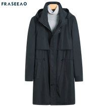 Windbreaker Navy Blue Asao / free Fashion City 170/88A 175/92A 180/96A 185/100A 190/104A zipper have more cash than can be accounted for Self cultivation Other leisure autumn youth Business Casual Cotton 72% polyamide fiber (nylon) 28% Solid color washing Side seam pocket Brocade cotton cotton