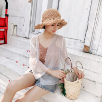 Lace / Chiffon Summer of 2018 White pink apricot Average size three quarter sleeve have cash less than that is registered in the accounts Vee miny Other 100%