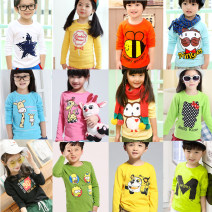 T-shirt Other / other neutral spring and autumn Long sleeves Crew neck leisure time There are models in the real shooting nothing cotton Cartoon animation Cotton 80% other 20% CX168 other other 3, 4, 5, 6, 7