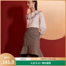 skirt Winter 2020 S M L XL Check pattern Mid length dress commute High waist skirt lattice Y0420127843 More than 95% Yunsimu thought polyester fiber Gauze lady Polyester 100% Pure e-commerce (online only)