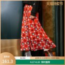 skirt Spring 2020 S M L XL gules longuette commute Natural waist A-line skirt Animal design Type A 91% (inclusive) - 95% (inclusive) Yunsimu thought polyester fiber printing lady Polyester 92% polyurethane elastic fiber (spandex) 8% Pure e-commerce (online only)