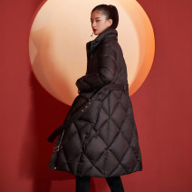 Down Jackets Winter 2020 Yunsimu thought black S M L XL White duck down 90% have more cash than can be accounted for Long sleeves thickening zipper commute Y0412087934 150g (including) - 200g (excluding) lady Bandage 96% and above polyester fiber Polyester 100% Pure e-commerce (online only)