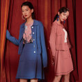 Fashion suit Autumn 2020 S M L Blue suit 97721 dark pink suit 97721 blue cardigan 97817 dark pink cardigan 97817 blue skirt 97818 dark pink skirt 97818 Yunsimu thought Y0303097721 Viscose (viscose) 53% polyamide (nylon) 47% Pure e-commerce (online only)