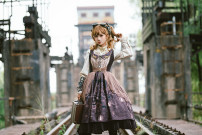 Dress Autumn 2020 S,M,L,XL,2XL Middle-skirt singleton  Sweet middle-waisted Hand painted Princess Dress 18-24 years old Type A Lolita