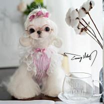 Pet clothing / raincoat currency Dress XS,S,M,L,XL,XXS,SM,ML TONY.HOBY princess Blue, pink cotton