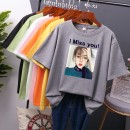 T-shirt Summer 2021 Short sleeve Crew neck easy routine commute polyester fiber 86% (inclusive) -95% (inclusive) 18-24 years old Korean version originality