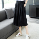 skirt Summer of 2019 S M L XL XXL XXXL black Mid length dress commute Natural waist A-line skirt Solid color Type A 30-34 years old J0682 More than 95% other Ajido other pocket Simplicity Lyocell 100% Exclusive payment of tmall