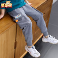 trousers Bear after bear male 110cm 120cm 130cm 140cm 150cm 160cm 170cm Grey black spring and autumn trousers There are models in the real shooting Leather belt middle-waisted cotton Don't open the crotch Cotton 85% polyamide 15% D20A1755 Class B Autumn 2020 Chinese Mainland Zhejiang Province