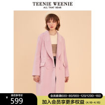 woolen coat Winter of 2019 160/S 165/M 170/L Pink wool 51% (inclusive) - 70% (inclusive) Medium length Long sleeves commute double-breasted routine V-neck Britain TTJW94V68W Teenie Weenie 18-24 years old Wool 69.5% polyamide 30.5% Same model in shopping mall (sold online and offline)
