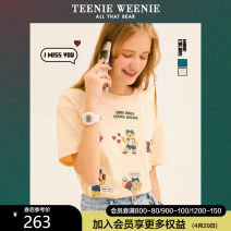 T-shirt 155/XS 160/S 165/M 170/L 175/XL Spring 2021 Short sleeve Crew neck easy Regular routine commute other 96% and above 18-24 years old Britain Cartoon animation Teenie Weenie Other 100% Pure e-commerce (online only)