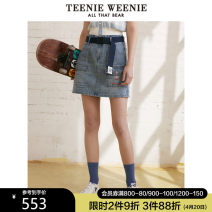 skirt Spring 2021 155/XS 160/S 165/M 170/L Medium blue Short skirt commute Natural waist A-line skirt Cartoon animation Type A 18-24 years old TTWJ212401A More than 95% other Teenie Weenie cotton Pocket button zipper print Britain Cotton 100% Same model in shopping mall (sold online and offline)