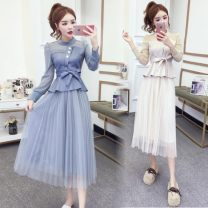 Fashion suit Spring 2020 M,L,XL Apricot, blue 18-25 years old Other / other