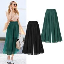 Women's large Spring of 2018 Green, black Large XL, large XXL, large XXL, large XXXXL, large XXXXL trousers singleton  street thin Other / other Ninth pants Europe and America