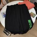 skirt Summer 2020 S, M Black skirt Short skirt commute High waist A-line skirt letter 18-24 years old 30% and below Other / other cotton Korean version