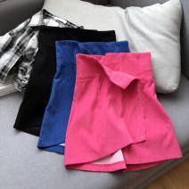 skirt Summer 2021 S,M,L Rose skirt, blue skirt, black skirt Short skirt Versatile High waist A-line skirt Solid color Type A 18-24 years old FG214567 30% and below other Other / other other 40g / m ^ 2 and below