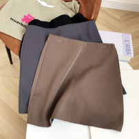 skirt Spring 2021 S,M,L Brown, grey, black Short skirt commute High waist skirt Solid color 18-24 years old FG416837 30% and below Other / other Korean version
