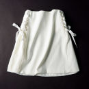 skirt Autumn of 2018 S M White black Short skirt commute High waist A-line skirt Solid color Type A 18-24 years old SG629473 30% and below other