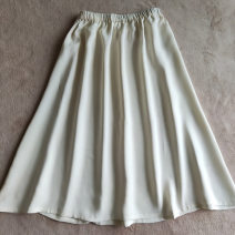 skirt Summer 2021 The skirt length is 70cm, 74cm, 76cm, 85CM, 65cm, and the back is dirty white Mid length dress Versatile Natural waist Type A More than 95% silk
