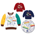 Sweater / sweater Class B Chinese Mainland male spring and autumn Seven, six, five, four, three, two, 18 months Very small fish nothing leisure time cotton Condom Cotton 100% other No model in real shooting routine 27508 Guangdong Province Guangzhou City Red, off white, sapphire
