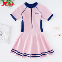 Children's swimsuit / pants XTEP / Tebu Pink Navy sky blue Children's one piece swimsuit children nylon 979023810013 girls' swimsuit Winter 2020 no Exclusive payment of tmall