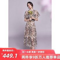 skirt Spring 2021 S,M,L,XL Apricot color, reminder: the product has been added to the original protection Mid length dress commute High waist A-line skirt Decor Type A 30-34 years old 81% (inclusive) - 90% (inclusive) Lace ANNASPEAK nylon Ol style