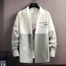 shirt Youth fashion Tkz M L XL 2XL 3XL 4XL routine Pointed collar (regular) Long sleeves standard Other leisure spring TKZ20693 youth Polyester 100% tide 2021 Letters / numbers / characters oxford Summer 2021 washing other Color matching Pure e-commerce (online only)