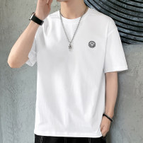 T-shirt Youth fashion routine M L XL 2XL 3XL 4XL Tkz Short sleeve Crew neck easy Other leisure summer tkz20174A Cotton 100% youth Off shoulder sleeve tide Cotton wool Summer 2021 Cartoon animation printing cotton Creative interest washing Fashion brand Pure e-commerce (online only) More than 95%