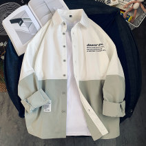 shirt Youth fashion Tkz M L XL 2XL 3XL routine Pointed collar (regular) Long sleeves easy Other leisure summer tkz20155A youth Polyester 100% tide 2021 Solid color oxford Summer 2021 No iron treatment polyester fiber printing Pure e-commerce (online only) More than 95%