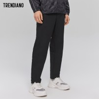 Casual pants Trendiano Fashion City Black 090 S M L XL XXL routine trousers Other leisure Straight cylinder Micro bomb summer youth tide 2017 middle-waisted Pocket decoration polyester fiber Summer 2017 Same model in shopping mall (sold online and offline) 30% (inclusive) - 49% (inclusive)