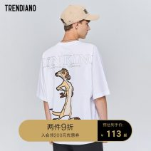 T-shirt Fashion City Bleach 000 black 090 orange 400 routine S M L XL Trendiano Short sleeve Crew neck standard Other leisure summer 3ZC3021370 Cotton 100% youth routine tide Summer of 2019 Animal design Same model in shopping mall (sold online and offline)