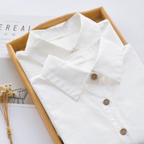 shirt S M L XL XXL XXXL Autumn of 2018 cotton 96% and above Long sleeves Versatile Regular other Single row multi button routine Solid color 18-24 years old Straight cylinder G31 Cotton 100% Pure e-commerce (online only)