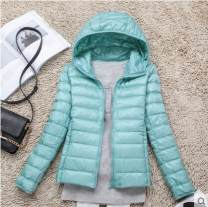 Down Jackets Winter 2016 Dieya love S M L XL 2XL 3XL 100 110 120 130 140 150 White duck down 90% have cash less than that is registered in the accounts Long sleeves Thin money zipper Hood commute routine Self cultivation Solid color Below 100g Korean version zipper 96% and above nylon Nisi spinning
