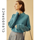 sweater Autumn of 2019 S M L XL Long sleeves Socket singleton  Regular acrylic fibres 31% (inclusive) - 50% (inclusive) square neck Regular commute routine Solid color Straight cylinder 25-29 years old cloudspace