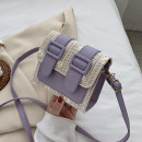 Bag Inclined shoulder bag PU Small square bag brand new Fashion trend Small leisure time soft Cover type no Plants and flowers Single root Cross back nothing youth Horizontal square Lace Telescopic handle synthetic leather synthetic leather