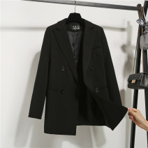 suit Spring of 2019 black XS,S,M,L,XL,2XL Long sleeves Medium length easy tailored collar double-breasted commute routine Solid color XXZ1901 71% (inclusive) - 80% (inclusive) Pocket, button