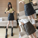 skirt Winter 2020 S,M,L,XL Brown, white, black Short skirt Versatile High waist A-line skirt Solid color Type A 18-24 years old 8V 31% (inclusive) - 50% (inclusive) other PU zipper 101g / m ^ 2 (including) - 120g / m ^ 2 (including)