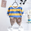 suit AI Weisi Bei neutral spring and autumn Korean version Long sleeve + pants 2 pieces routine No model Socket nothing Cartoon animation cotton children Expression of love Cotton 95% polyurethane elastic fiber (spandex) 5% Spring 2021 12 months 18 months 2 years 3 years 4 years 5 years old