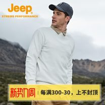 Sweater Fashion City Jeep / Jeep Black green white S/165 M/170 L/175 XL/180 XXL/185 XXXL/190 XXXXL/195 Solid color Socket routine Crew neck winter Straight cylinder Travel youth Simplicity in Europe and America routine J032094365 Cotton polyester cotton printing Winter 2020 Exclusive payment of tmall