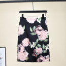 skirt Summer 2016 S,M,L,XL,2XL Big black flowers, pink and white prints, green flowers Middle-skirt commute High waist A-line skirt Broken flowers Type A 25-29 years old 51% (inclusive) - 70% (inclusive) Silk and satin Other / other Cellulose acetate Zipper, stitching, printing Korean version