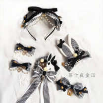 Hair accessories Side clip 10-19.99 yuan DIY One hair band, one big side clip, one pair of clip, one rabbit ear clip and one brooch brand new Original design Fresh out of the oven Lace Not inlaid