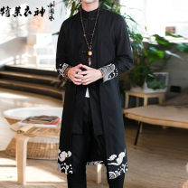 National Costume Telysone / telysone M L XL 2XL 3XL 4XL 5XL Tang costume Cotton 80% flax 20% summer leisure time youth No iron treatment Spring of 2018 Pure e-commerce (online only)