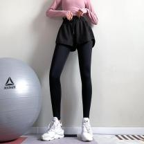 Fitness pants S (about 85-100kg), m (about 95-118kg), l (about 119-140kg) female black BK_ Meet k239 Goodunderandema / goodandema Yoga, fitness equipment Moisture absorption, perspiration and quick drying trousers High waist Tight trousers Autumn of 2019 nylon