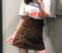 skirt Spring of 2019 XS,S,M,L Leopard Print 51% (inclusive) - 70% (inclusive) other