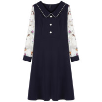 Women's large Spring 2021 Blue spot blue pre-sale (delivery within 10 days after payment) L (110-125) Jin XL (125-140) Jin 2XL (140-155) Jin 3XL (155-170) Jin 4XL (170-185) Jin 5XL (185-210) Jin Dress singleton  street easy thin Socket Long sleeves other other Polyester others routine 9911850810-2