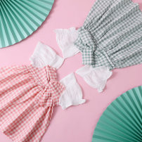 Dress Pink Plaid Green Plaid female Auxilium / Aoli 80cm 90cm 100cm 110cm 120cm Polyester 100% summer Korean version Short sleeve lattice other Splicing style QD00295 Class A Summer 2021 12 months 9 months 18 months 2 years 3 years 4 years 5 years 6 years old Chinese Mainland Guangdong Province