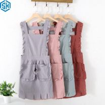 apron Pink, red, light gray, light green, cherry powder (apron + sleeve), bean paste red (apron + sleeve), cold silver gray (apron + sleeve), mint green (apron + sleeve) Sleeveless apron waterproof Korean version other Household cleaning Average size other public no Tender girl's heart