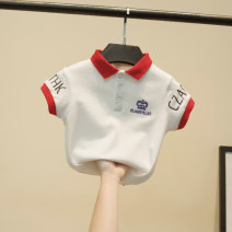 T-shirt white Other / other 90cm,100cm,110cm,120cm,130cm male summer Short sleeve Lapel and pointed collar No model cotton Solid color Cotton 95% other 5% Polo crown Class B 2 years old, 3 years old, 4 years old, 5 years old, 6 years old, 7 years old, 8 years old