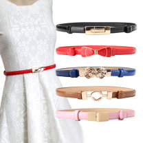 Belt / belt / chain Pu (artificial leather) female belt Versatile Single loop Children, youth, youth, middle age a hook Glossy surface Patent leather 1.4cm alloy
