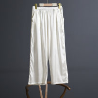 Casual pants Silk pants 014 white silk pants 014 black XL XXL 3XL Spring 2021 trousers Straight pants Natural waist commute Thin money 35-39 years old 96% and above A1SJH014 Suobado / sorbado silk pocket silk Mulberry silk 100% Pure e-commerce (online only)